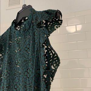 Zara Dresses - Zara Emerald Green Lace Cocktail Dress (S) New!